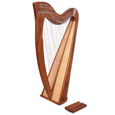 28 Saiten Rosenholz Harfe, 28 Strings Celtic Irish Harp, Irish lever Harp