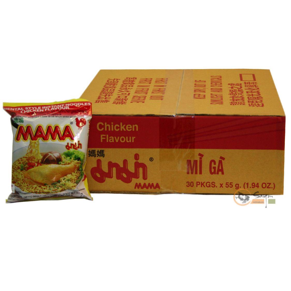Sparen! 90x55g Mama Instantnudeln Huhn Instant Nudelsuppe Chicken Instant Nudeln
