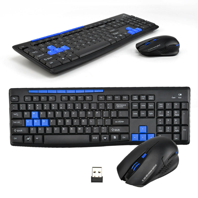 NEU Wireless Tastatur mit Maus,1000 / 1600DPI Funk Kabellos Keyboard QWERTY