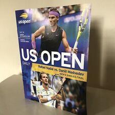 2019 US OPEN TENNIS Day 14 Nadal vs Medvedev Draw Sheet ...