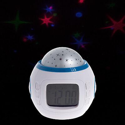 Digital Kinderwecker Alarm Uhr mit Sternenhimmel Thermometer Schlummerfunktion