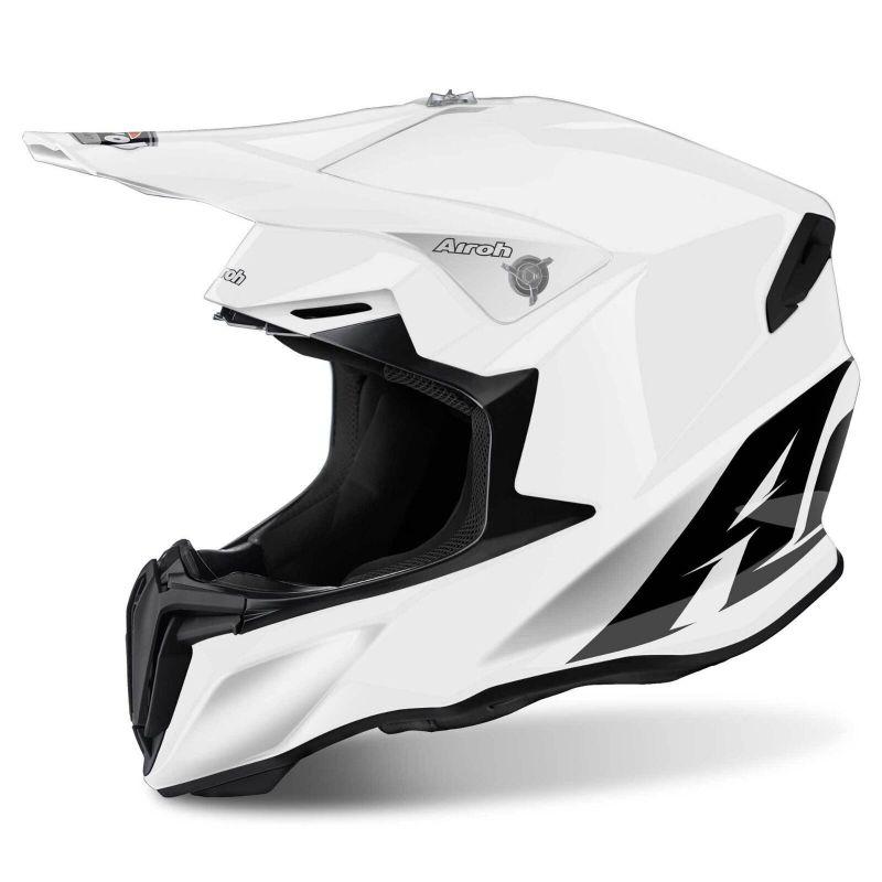 Casco moto cross enduro motard quad atv Airoh Twist Color bianco lucido