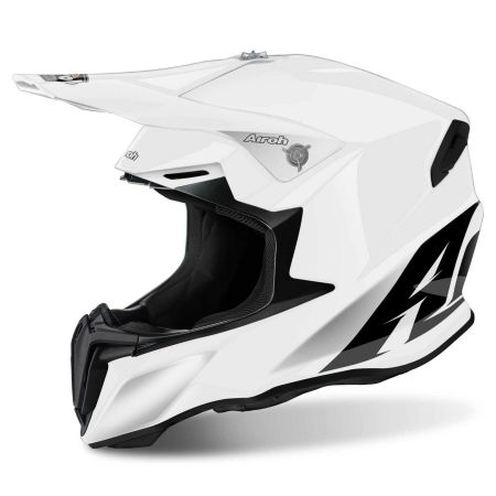 Casco moto cross enduro motard quad atv Airoh Twist Color bianco lucido