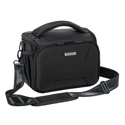 SLR Kameratasche Schultertasche Umhängetasche Fototasche Regenschutz, schwarz XL