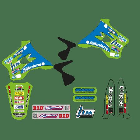 kit adesivi Kawasaki Kx 125 250 1994 1995 1996 1997 1998 completi grafiche Team