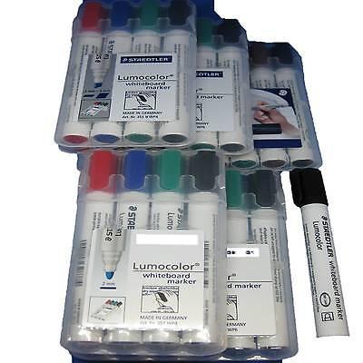 Staedtler Lumocolor Whiteboard Marker 351 4er 6er 8er schwarz Set 351B 4 6 Stift
