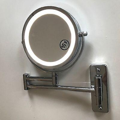 LUXUS LED Beleuchtet Kosmetikspiegel Schminkspiegel Normal + 10Fach, WED-10
