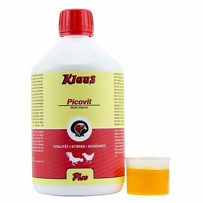 Klaus Picovit 500 ml Multivitamin für Geflügel flüssiges Vitaminpräparat Pflege