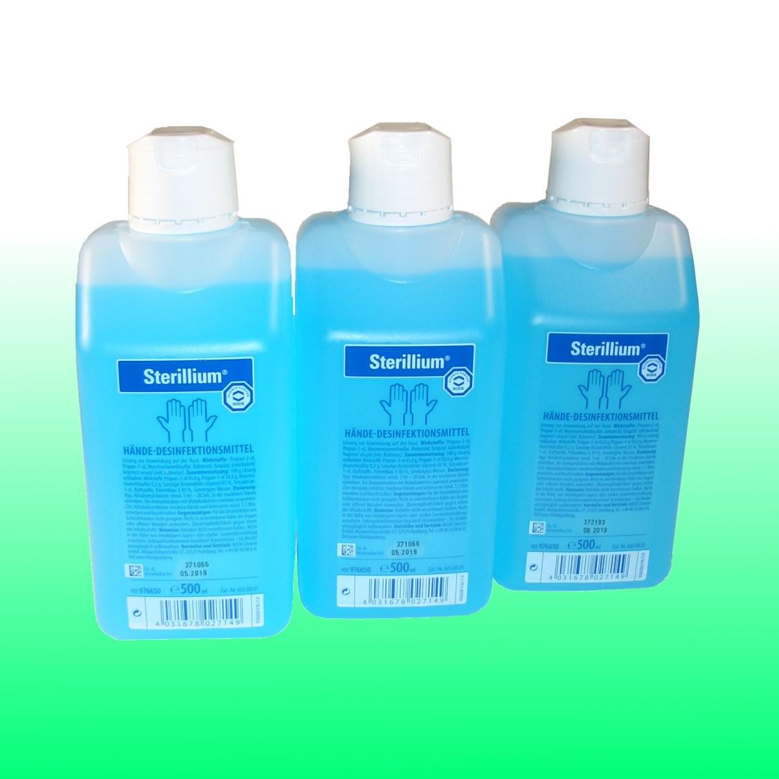 Sterillium® 3 x Händedesinfektion Bode Sterillium 500ml Sterilium