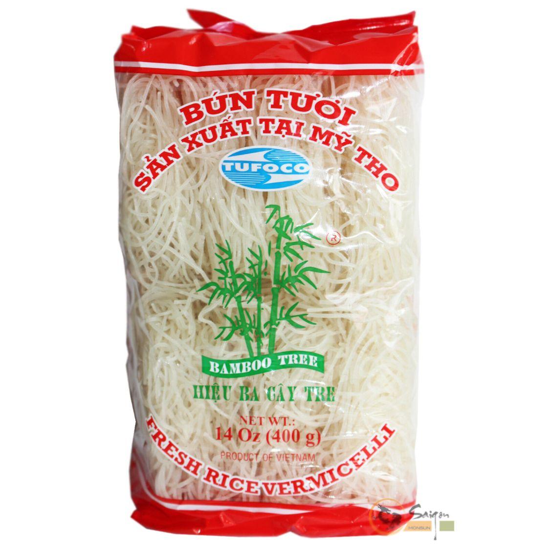 Bamboo Tree Bun Tuoi 8St. Reisnudeln 400g (rot) Rice Vermicelli Reis Nudeln
