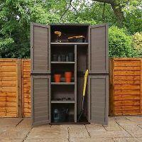 Plastic Storage Garden Outdoor 4 Shelf Utility Cabinet ...