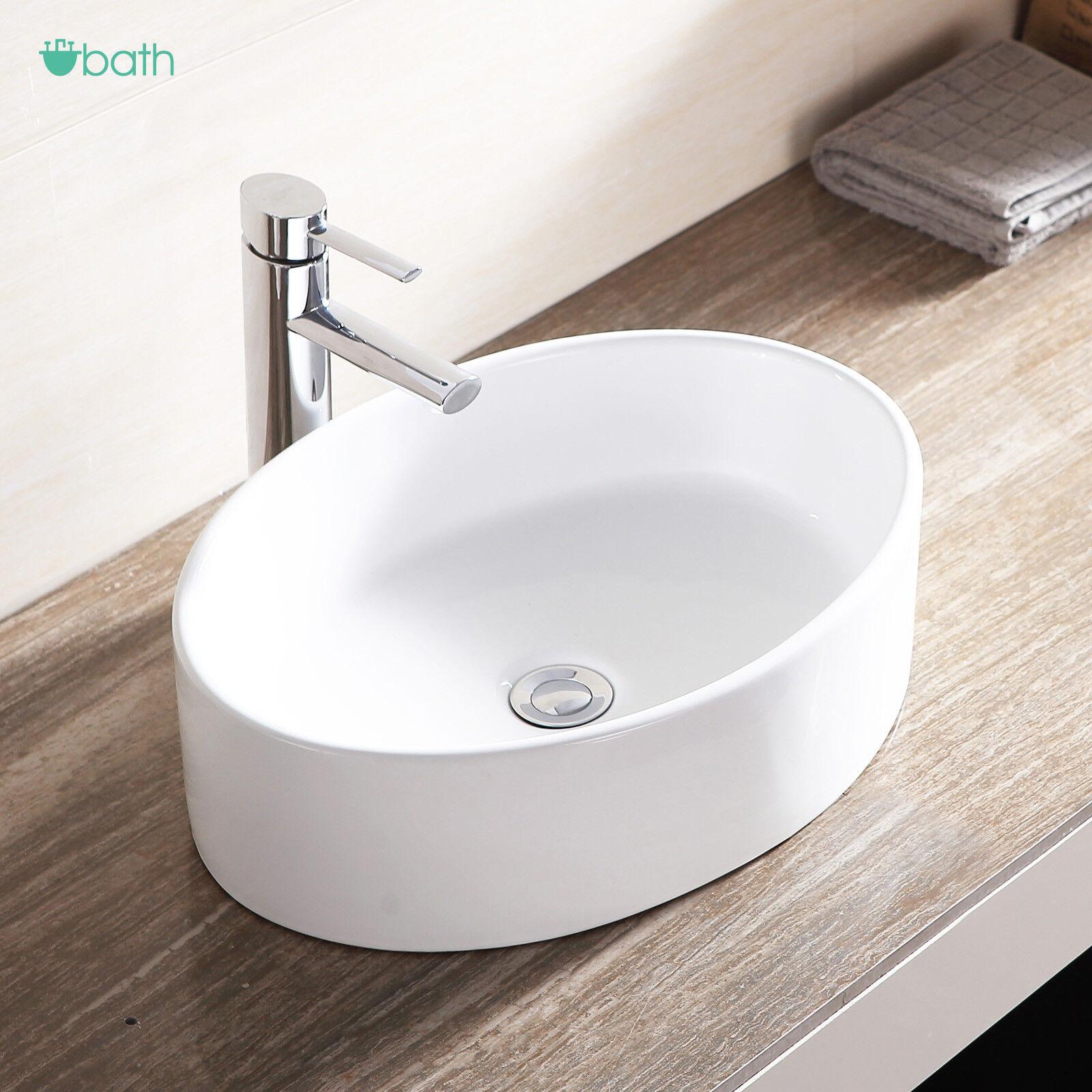 white porcelain kitchen sink glass tiles for backsplashes ceramic oval bathroom vessel bowl