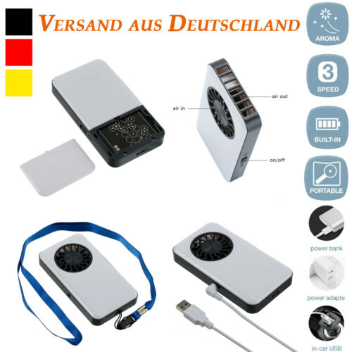 USB Handventilator Mini Akku Ventilator Taschenventilator Tragbar Aufladbar Fan