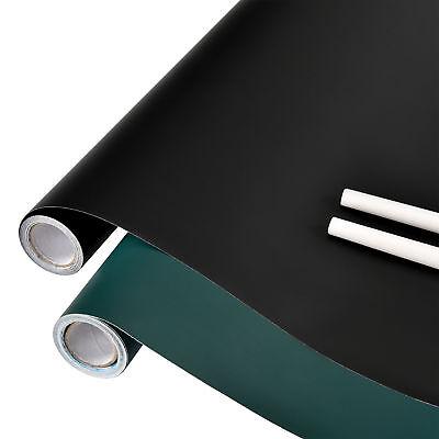 [neu.haus] Tafelfolie schwarz grün selbstklebend 40x300cm Kreide Folie Wanddeko