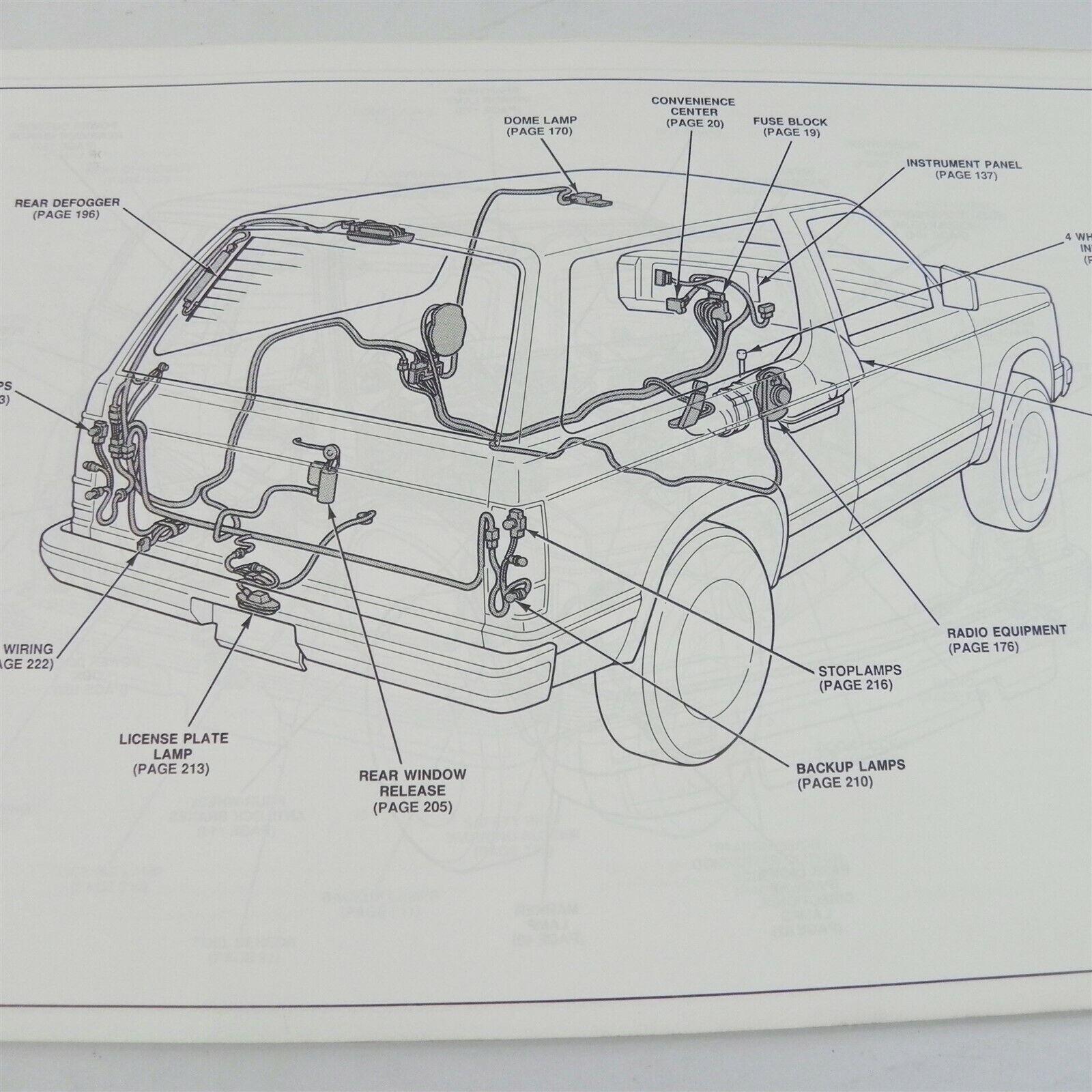 1991 GMC SIERRA S/T MODEL TRUCKS OEM ELECTRICAL DIAGRAMS