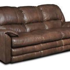 Reclining Sofa Leather Brown Lilac Fabric Click Clack Bed Ebay Power