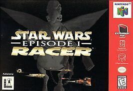 Star Wars Episode I: Racer N64 game cover box art