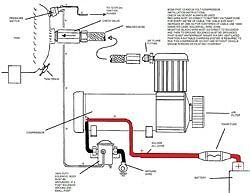 BOSS PX02 12V Air Compressor Check Valve Braided Hose