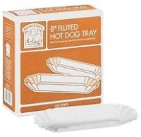 100 Hot Dog Paper Fluted Trays Holders 034 Bakers and ...