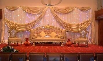 gumtree wedding chair covers for sale woven patio chairs stage hire £299 platform £350 uplift rental mendhi decoration cover ...