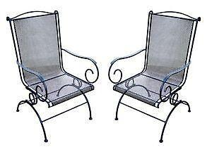 wrought iron chair fishing chairs for sale ebay patio