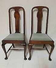 queen ann chairs blue arm chair anne ebay dining