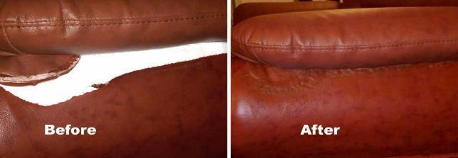 Fixing A Tear In A Leather Sofa EBay