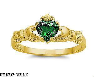 Womens Gold Claddagh Ring Ebay