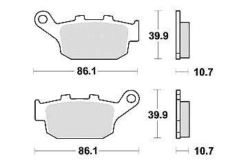 Jeu 2 plaquettes de frein Arrière qualité HONDA XRV 750