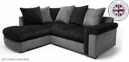 brown fabric corner sofa dfs how do you make a bed comfortable black and grey | ebay