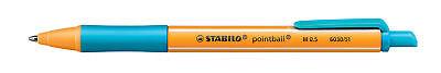 Kugelschreiber STABILO® pointball®, Druckmechanik, 0,5 mm, türkis (Stabilo; #...