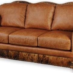 Brown Leather Sofa Accent Chair Replica Edgar Blazona Dane With Chaise Cowhide | Ebay