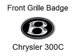 Front Bentley Style 'B' Emblem Badge for Chrysler 300C
