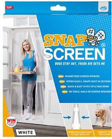 JML Snap Screen Magnetised Mesh Door Curtain Bugs Out Fresh Air