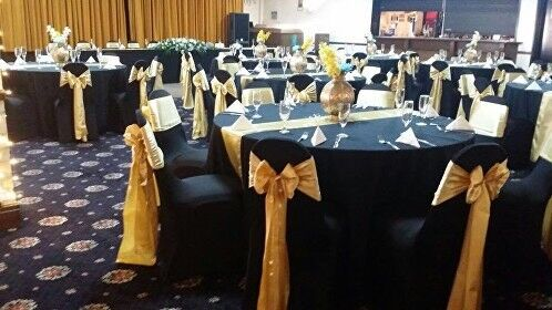 gold chair covers with black sash modern adirondack chairs 65p cheap cover and hire sale wedding party decorations table cloth runner napkin in southall london gumtree