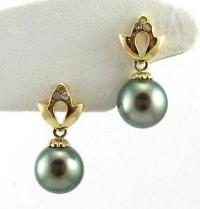 Black Pearl Earrings | eBay
