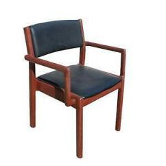 Teak Wood Revolving Chair Jazzy Select Power Antique Desk Ebay Oak Chairs