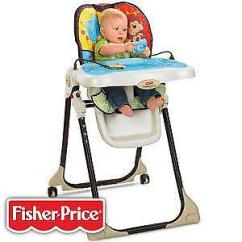Fisher Price Rainforest Healthy Care High Chair 2 White Bonded Leather | Ebay
