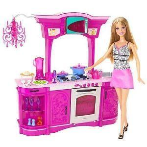 barbie kitchen playset ikea table and chairs set ebay furniture
