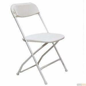 white folding chairs chair exercises for seniors with arthritis ebay plastic