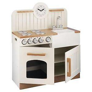 wooden toy kitchens turquoise kitchen chairs childrens play ebay uk