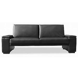 moods 3 seater leather sofa bed real corner beds 2 seating ebay