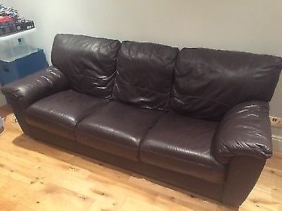 leather sofa brown dfs convertible 2 places 3 seater in aldershot hampshire gumtree