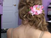 side swept cascading curls easy
