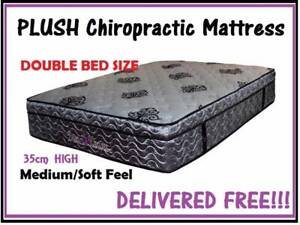 Double Size Bed Mattress Wave Foam Pillow Top Delivered Free