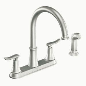 moen kitchen faucets stainless steel faucet with pull-down spray ebay