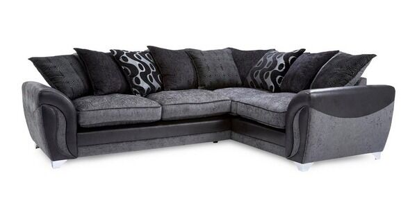 sofas on gumtree leather living room decorating ideas black sofa dfs corner & grey   in sheffield, south ...