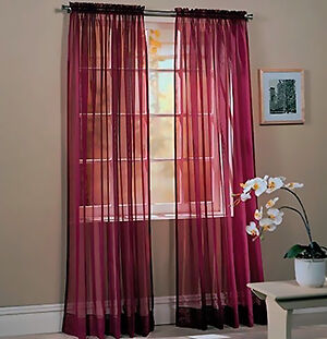 How To Make Sheer Curtains EBay