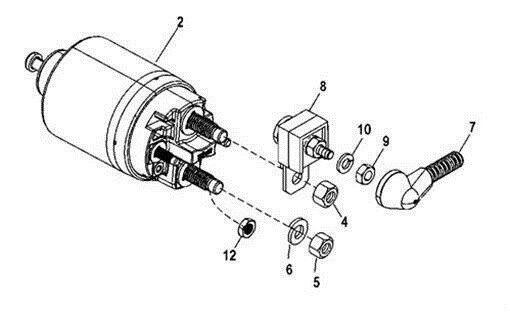 New Starter + Fuse Kit For Mercruiser 350 Mag Bravo MPI 5