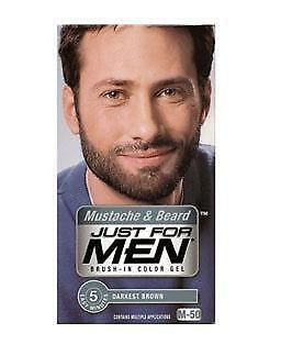 men beard hair color